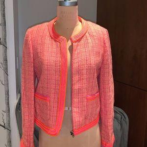 J.Crew Neon Pink/Orange Tweed Jacket